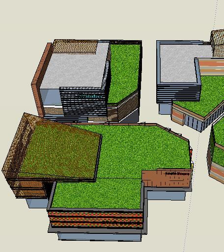 现代风格商业街详细su模型(3)