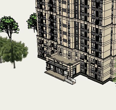 现代风格住宅设计精细su模型(3)