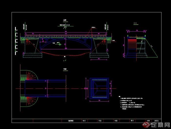 详细石拱桥cad施工图cad图纸2:1图片