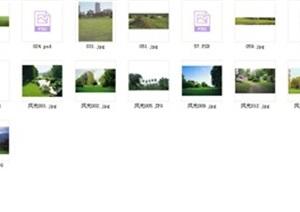 草坪、灌木、花坛、鲜花等psd、jpg素材