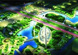 某城市市民广场景观设计效果图