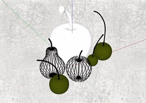 果子装饰素材设计SU(草图大师)模型