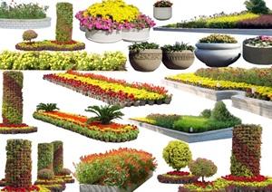 某多种详细完整的植物素材设计psd图层