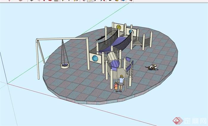 某现代游乐设施素材设计su模型