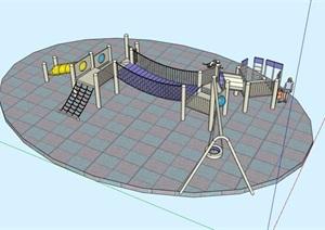 某现代游乐设施素材设计SU(草图大师)模型