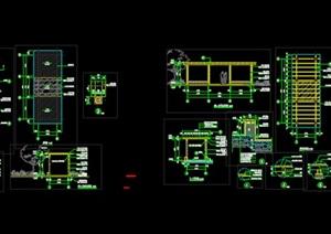 中式廊架中式廊架SU(草图大师)模型 CAD施工图