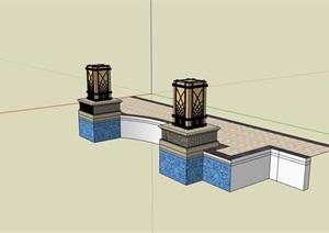 景观灯柱素材设计SU(草图大师)模型