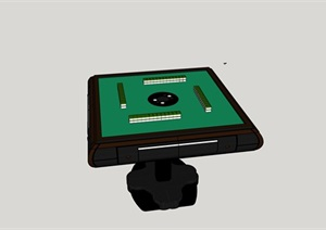 精美麻将桌麻将机SU(草图大师)模型