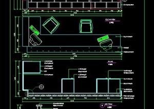 现代风格转折服务台设计图纸