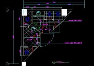 公共空间卫生间室内设计图纸