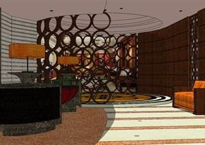 餐厅酒店大厅门厅接待室室内设计