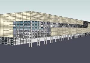 现代创意大跨度桁架结构工厂厂房设计