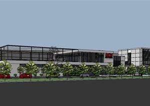 现代工厂厂房园区规划办公楼建筑综合设计