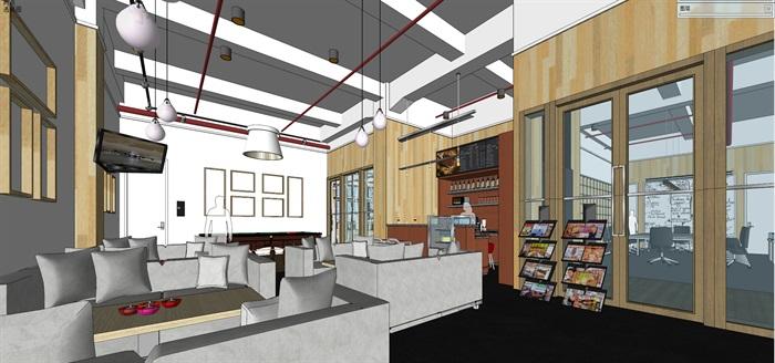 现代创意开放式办公空间办公室设计(1)