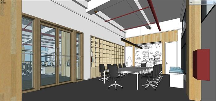 现代创意开放式办公空间办公室设计(3)
