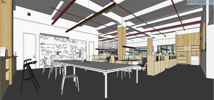 现代创意开放式办公空间办公室设计(4)