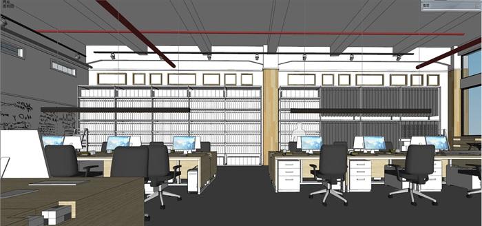 现代创意开放式办公空间办公室设计(5)