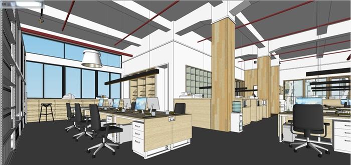 现代创意开放式办公空间办公室设计(6)