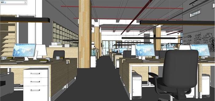 现代创意开放式办公空间办公室设计(7)