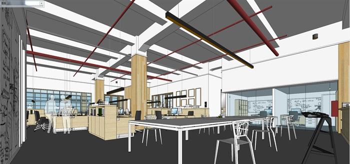 现代创意开放式办公空间办公室设计(8)