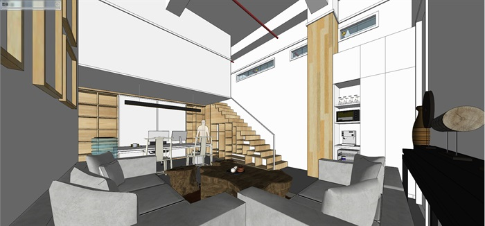 现代创意开放式办公空间办公室设计(9)