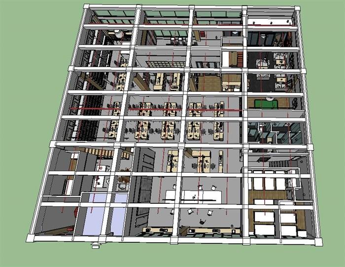 现代创意开放式办公空间办公室设计(10)