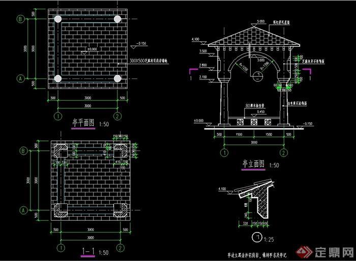 欧式亭子详细cad施工图,图纸包含了平立剖面图设计,整体绘制详细完整,可直接下载用于相关施工设计使用,欢迎下载。