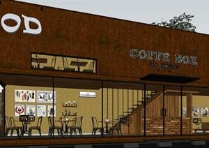 集装箱概念咖啡屋sketchup模型