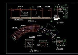 弧形廊架素材设计cad施工图