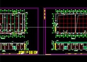 某地18.8米高框架结构仓筒、粮仓建筑设计施工图纸