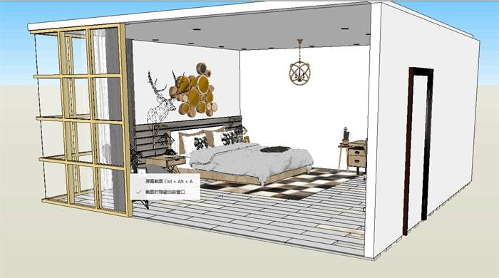 卧室详细设计方案su模型(1)