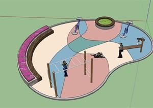 详细完整的游乐场地设计SU(草图大师)模型