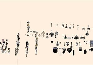 灯具详细设计SU(草图大师)模型集合