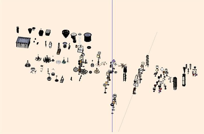 灯具详细设计su模型集合(3)