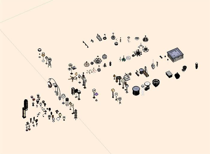 灯具详细设计su模型集合(2)