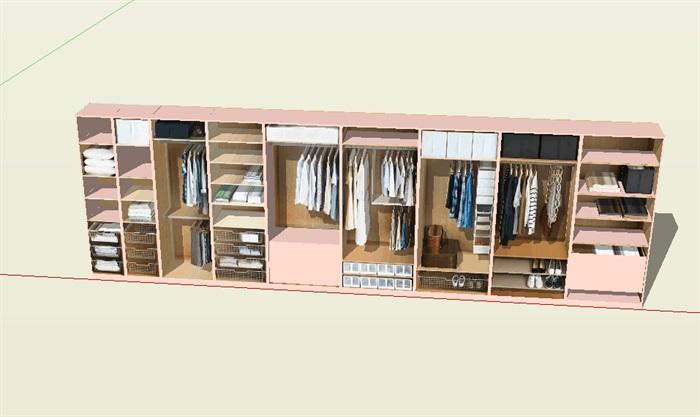 住宅室内家具详细设计su模型(3)