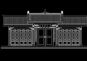 古典中式民居门cad方案