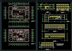 藏式风格医院门诊楼cad方案图