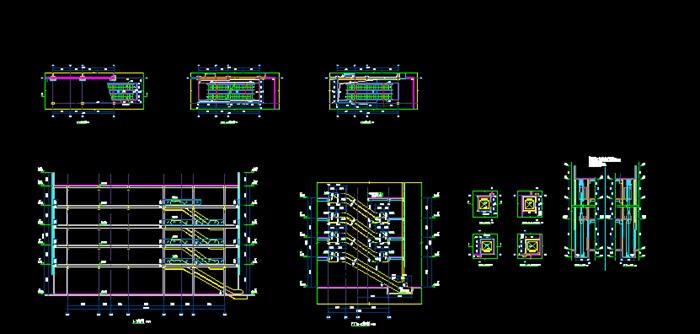 扶梯详细平立剖节点设计cad图