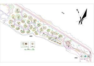 某现代度假区景观规划CAD总平面图