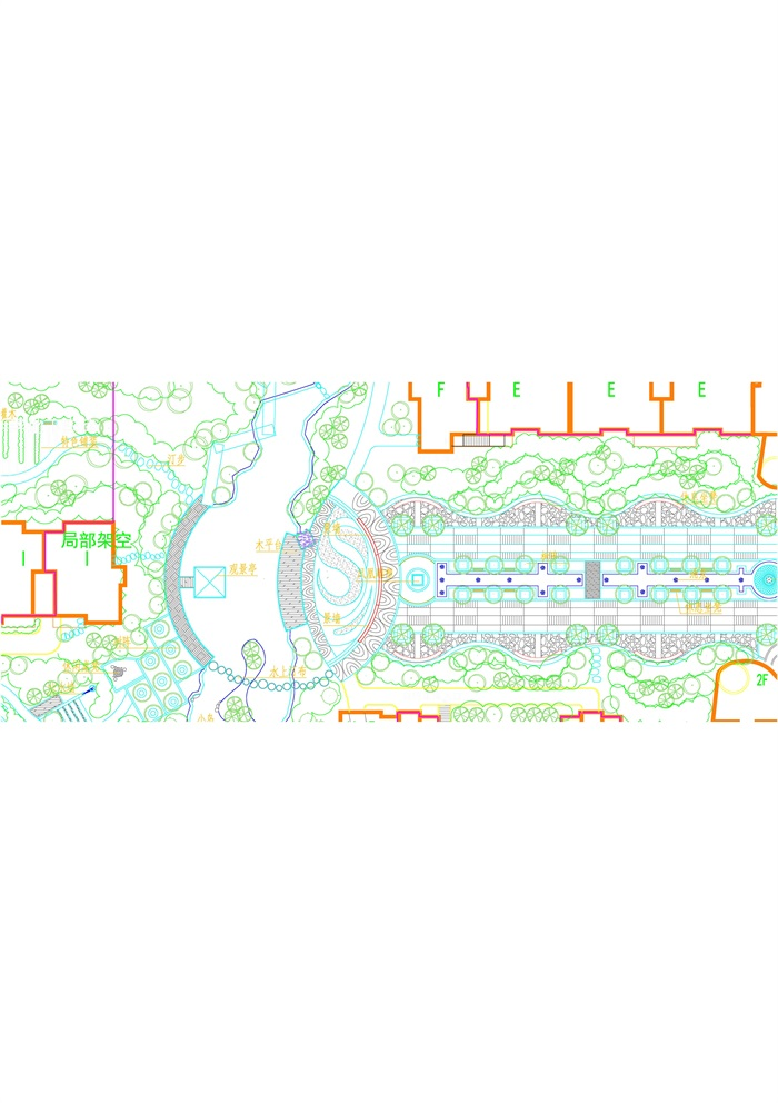 某小区景观布置总图(3)