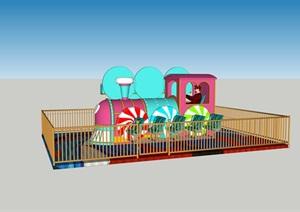 糖果火车游乐设施SU(草图大师)模型