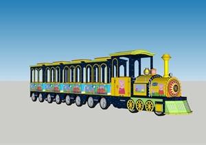 无轨火车(机头3.4-1.2-2.2m(车厢1.65-1.06-2.1m))