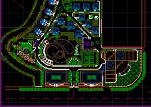 某娱乐活动区详细规划设计方案cad图