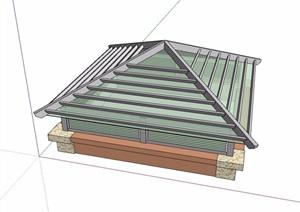 采光井素材设计SU(草图大师)模型