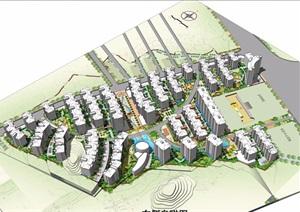 居住区规划完整SU(草图大师)方案模型+CAD+效果图
