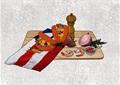 精品详细的食物摆件素材设计su模型