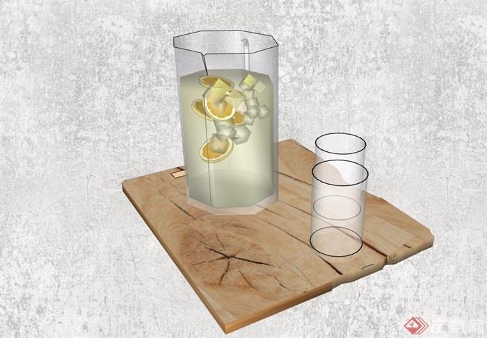 精品杯子摆件素材设计su模型