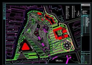 某陵园景观设计cad总图