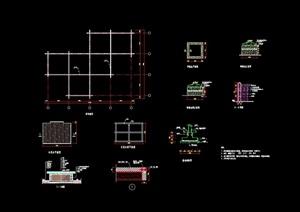 详细的木栈道素材设计cad施工图